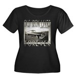 OLD IRON Women's Plus Size Scoop Neck Dark T-Shirt