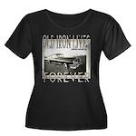OLD IRON Women's Plus Size Scoop Neck Dark T-Shirt