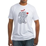 EL-LOVE-PHANT Fitted T-Shirt