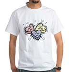 Conversational Hearts White T-Shirt