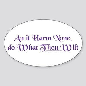 Wiccan Rede Oval Sticker
