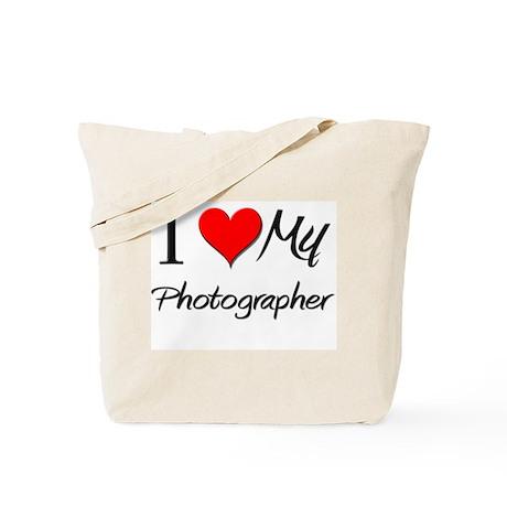 I Heart My Photographer Tote Bag