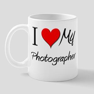 I Heart My Photographer Mug