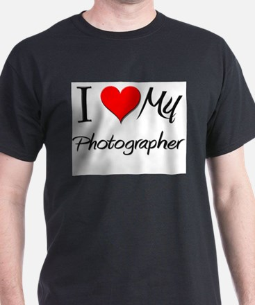 I Heart My Photographer T-Shirt