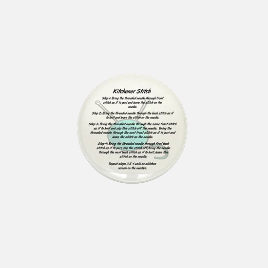 Kitchener Stitch Mini Button