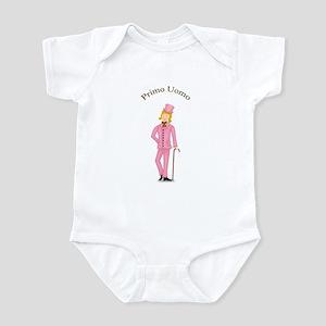 Blond Primo Uomo in Pink Suit Infant Bodysuit