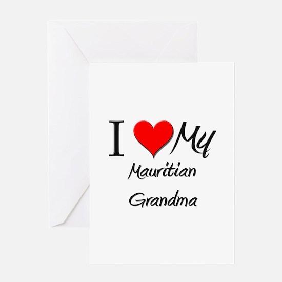 I Heart My Mauritian Grandma Greeting Card