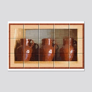 Three Pitchers Tiled Mini Poster Print