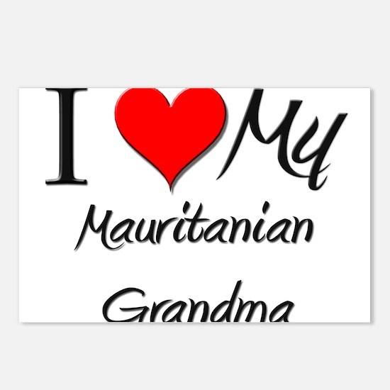 I Heart My Mauritanian Grandma Postcards (Package
