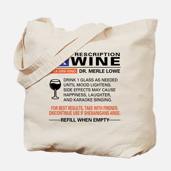 Unique Wine Tote Bag