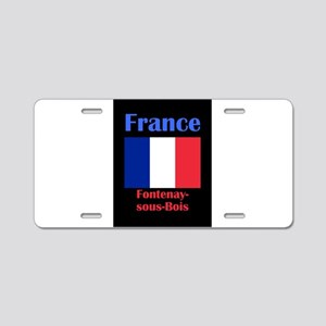 Fontenay-sous-Bois France Aluminum License Plate