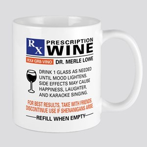 PRESCRIPTION WINE Mugs