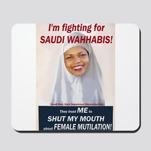 Condi Rice - Dhimmi for FGM Mousepad