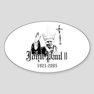 John Paul II ~ Oval Sticker
