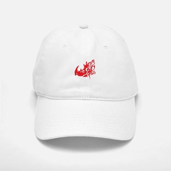 Rhino Tribal Baseball Baseball Cap