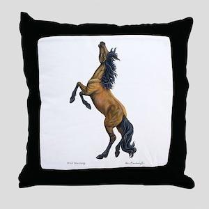 Mustang ~ Horse ~ Throw Pillow