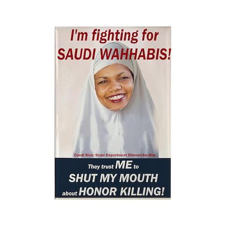 Condi Rice - Honor Killing Apologist Rectangle Mag