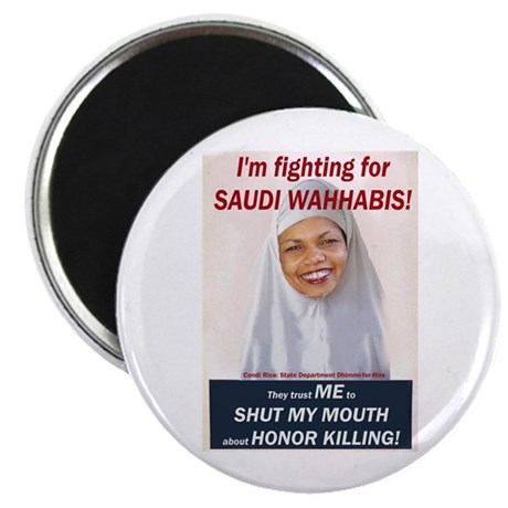 Condi Rice - Honor Killing Apologist Magnet