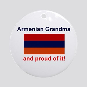 Proud Armenian Grandma Keepsake Ornament w/ribbon