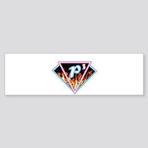 P3 Logo 2 Edit Fire L Bumper Sticker