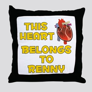This Heart: Renny (A) Throw Pillow