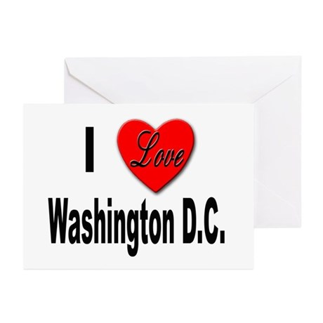 I Love Washington D.C. Greeting Cards (Package of