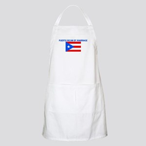 PUERTO RICAN BY MARRIAGE BBQ Apron