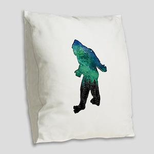 BIGFOOT AURORA Burlap Throw Pillow