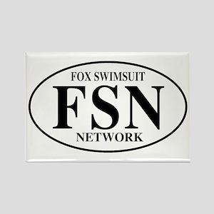FSN Fox Swimsuit Network Rectangle Magnet