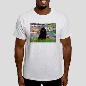 Lilies & Schipperke Ash Grey T-Shirt