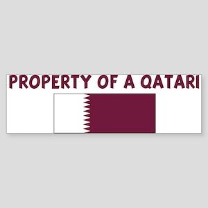 PROPERTY OF A QATARI Bumper Sticker