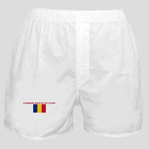 ROMANIAN MAKE BETTER LOVERS Boxer Shorts