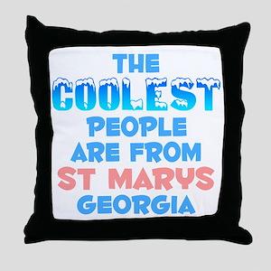 Coolest: St Marys, GA Throw Pillow