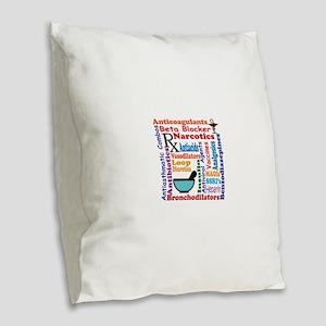 Pharmacy tech meds 9 Burlap Throw Pillow