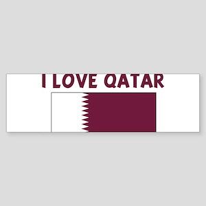 I LOVE QATAR Bumper Sticker