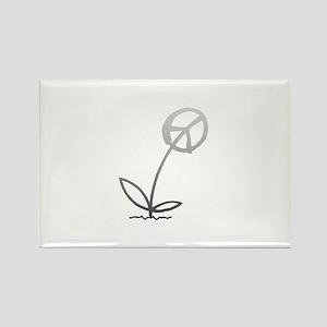 Peace Flower Rectangle Magnet