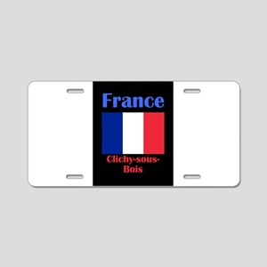 Clichy-sous-Bois France Aluminum License Plate
