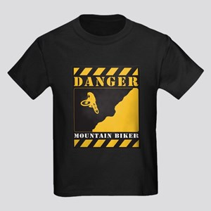 Danger Sign Kids Dark T-Shirt