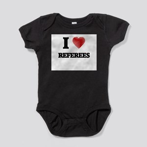 I love Referees (Heart made from words) Body Suit
