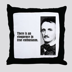 "Poe ""Elequence"" Throw Pillow"