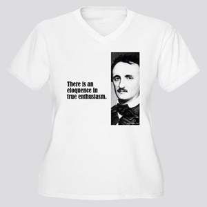 "Poe ""Elequence"" Women's Plus Size V-Neck T-Shirt"
