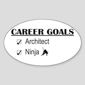 Architect Career Goals Oval Sticker
