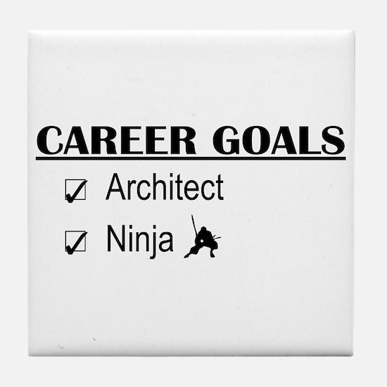 Architect Career Goals Tile Coaster