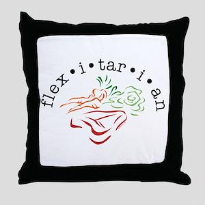 Flexitarian Throw Pillow