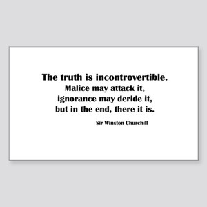Churchill's Truth Rectangle Sticker