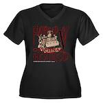 FLATHEAD V8 Women's Plus Size V-Neck Dark T-Shirt