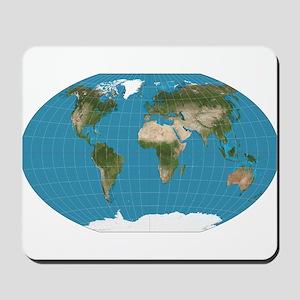 Map of Earth Mousepad