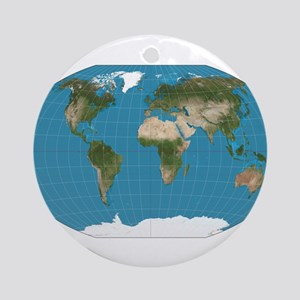 Map of Earth Round Ornament