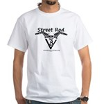 STREETROD V8 White T-Shirt