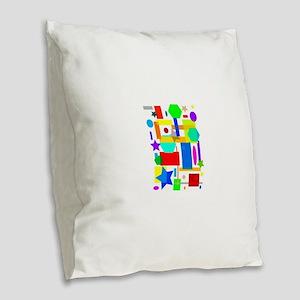 Color is art 2 Burlap Throw Pillow